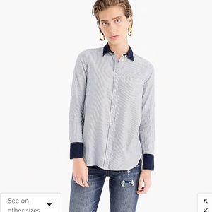 f7dd0101c915 J. Crew Tops | Classicfit Shirt In Mixed Denim Stripe Size 0 Nwt ...